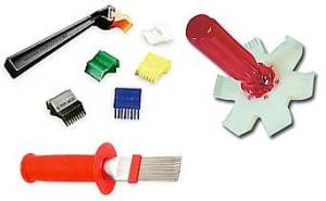 Various types of fin combs. Courtesy Home-Cost.com 2007