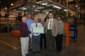 In 2009, HCPD presented Integra officials with an electric rebate for an expansion on its Madison facility.