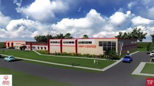 Artist's rendering of the Unify Center, courtesy SOSD.