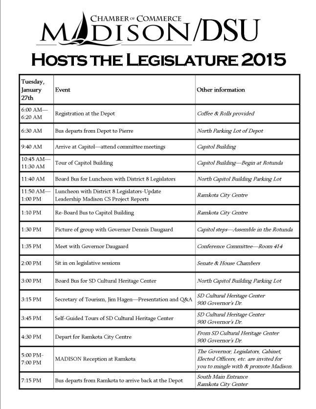 2015 MDHL Schedule Tentative