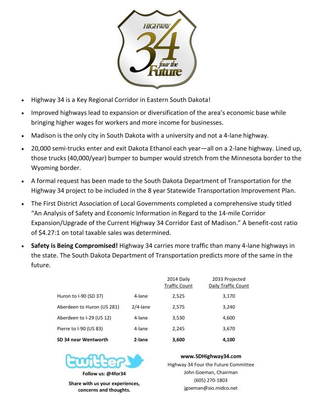 Highway 34 flier traffic counts 2015